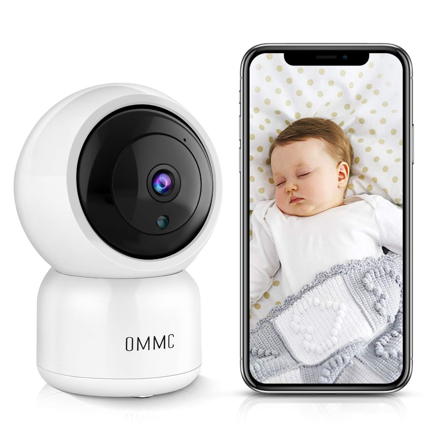 OMMC Wireless Security Camera, 1080P Home IP Camera Baby