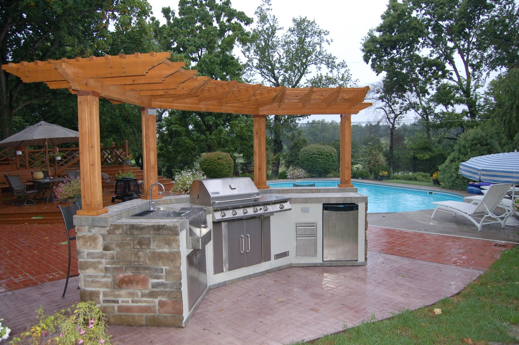 Pergola Plans With Outdoor Kitchen