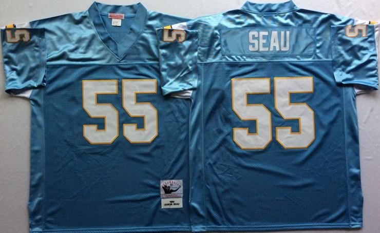 more photos 34a68 3f004 Men 55 Junior Seau Jersey Football San Diego Chargers Jersey ...