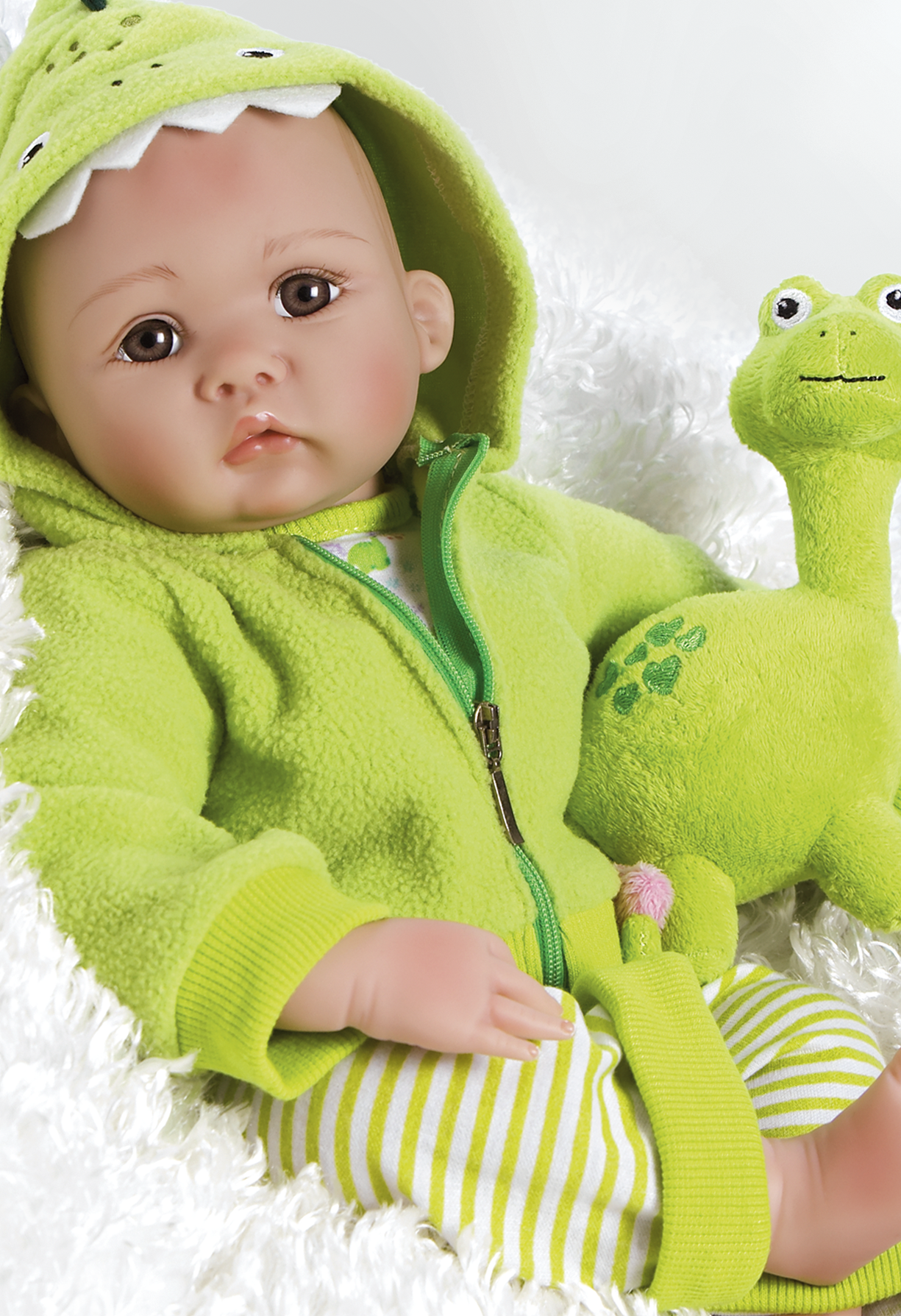 Realistic Newborn Baby Doll My Little Dino & Rex 18 inch in GentleTouch Vinyl