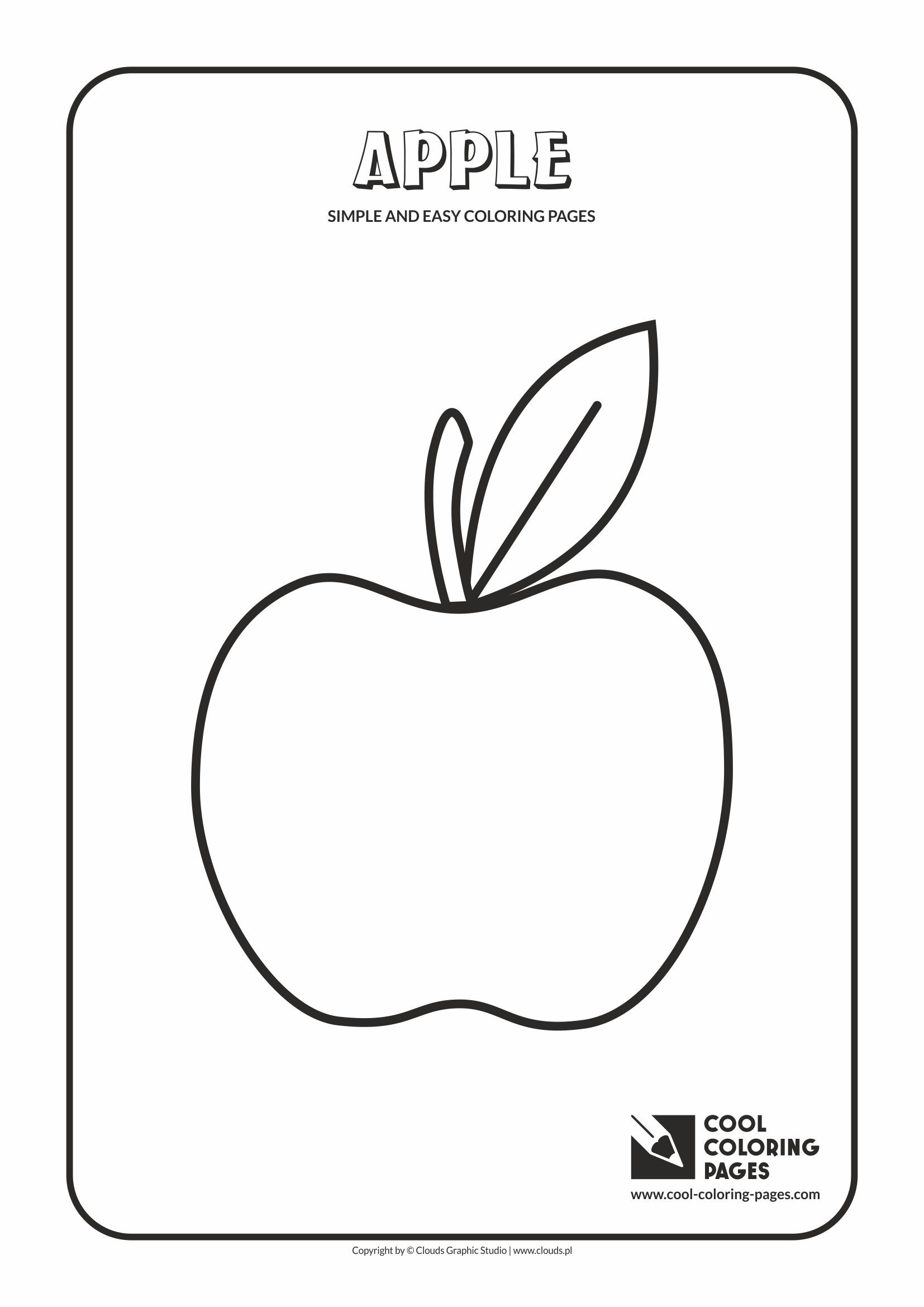 simple and easy coloring pages for toddlers apple simple and