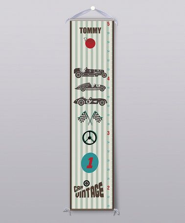 Take a look at this Racing Stripe Personalized Growth Chart by Grape Tomato on #zulily today!
