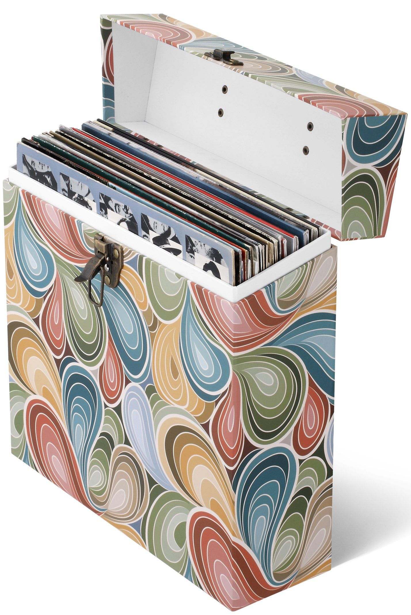 Paisley Parts Lp Vinyl Record Storage Box And Carrying Case For Lps Albums Products Vinyl Record Storage Box Record Storage Box Vinyl Record Storage