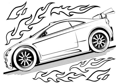 Hot Wheels Car Coloring Page Race Car Coloring Pages Cars Coloring Pages Truck Coloring Pages