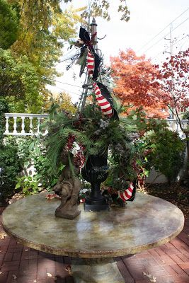 Simple Pleasures: Mary Carol Garrity's Christmas Home Tour 2013, Part 4, the Porch and Courtyard