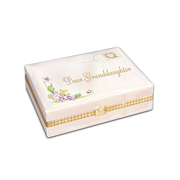 Granddaughter Jewelry Box Custom Dear Granddaughter Music Box  Music Boxes Box And Special Delivery Design Decoration