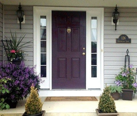 Painted Purple Front Door How To Choose A Paint Colour Benjamin Moore Camelot