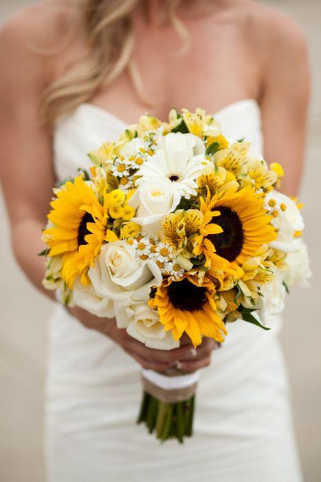 Sunflower Wedding Bouquets | Love Letters Floral Sunflower Wedding Pinterest Wedding