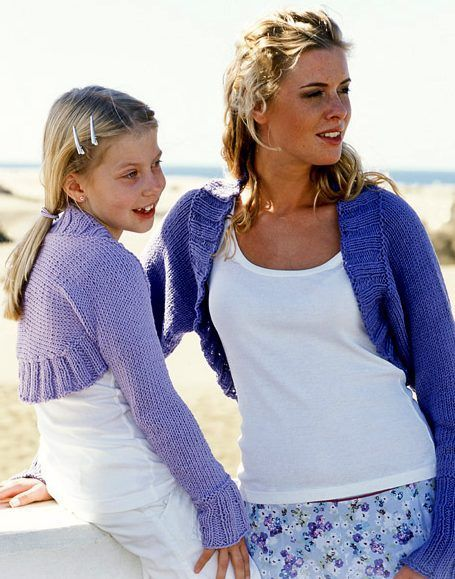 Free Knitting Pattern For Mom And Me Shrug Shrug Is Knit In One