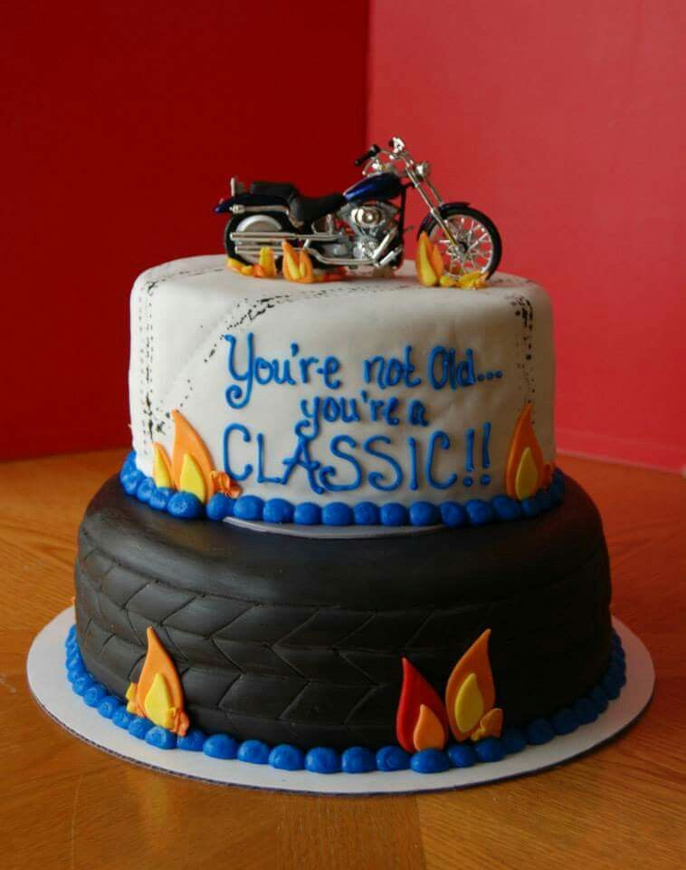 Enjoyable Harley Over The Hill Cake 60Th Birthday Cakes 60Th Birthday Personalised Birthday Cards Vishlily Jamesorg