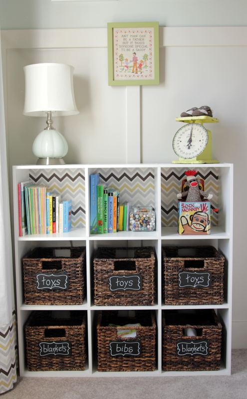Organizing With Baskets Baby Storage