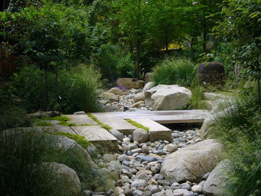rivière sèche Terrasse jardin, Paysagiste, Jardins