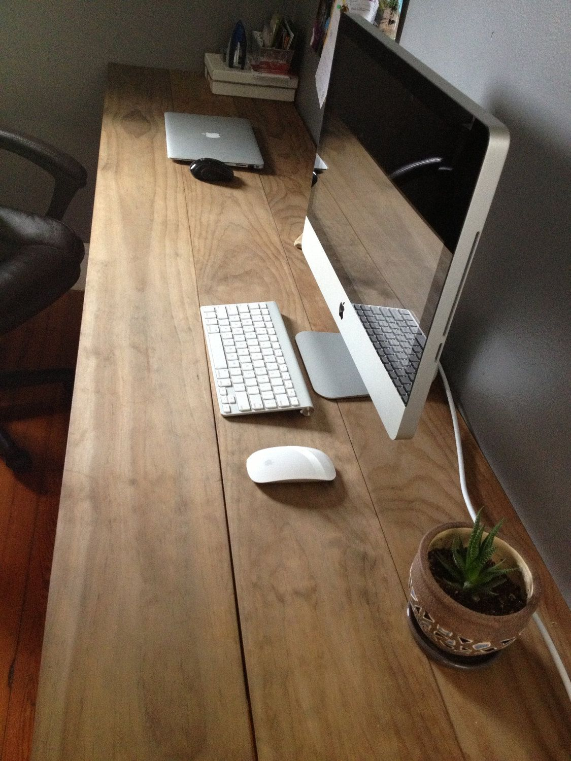 23+ DIY Computer Desk Ideas That Make More Spirit Work. Industrial DeskWood  Office ...