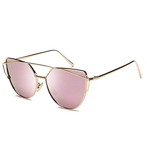 69f7d427a1f Joopin Women Metal Polarized Cat Eye Sunglasses Flat Lens ...