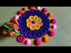 Navratri durga Pooja rangoli design/rangoli for Diwali Lakshmi Pooja - YouTube #rangolidesignsdiwali Navratri durga Pooja rangoli design/rangoli for Diwali Lakshmi Pooja - YouTube #rangolidesignsdiwali