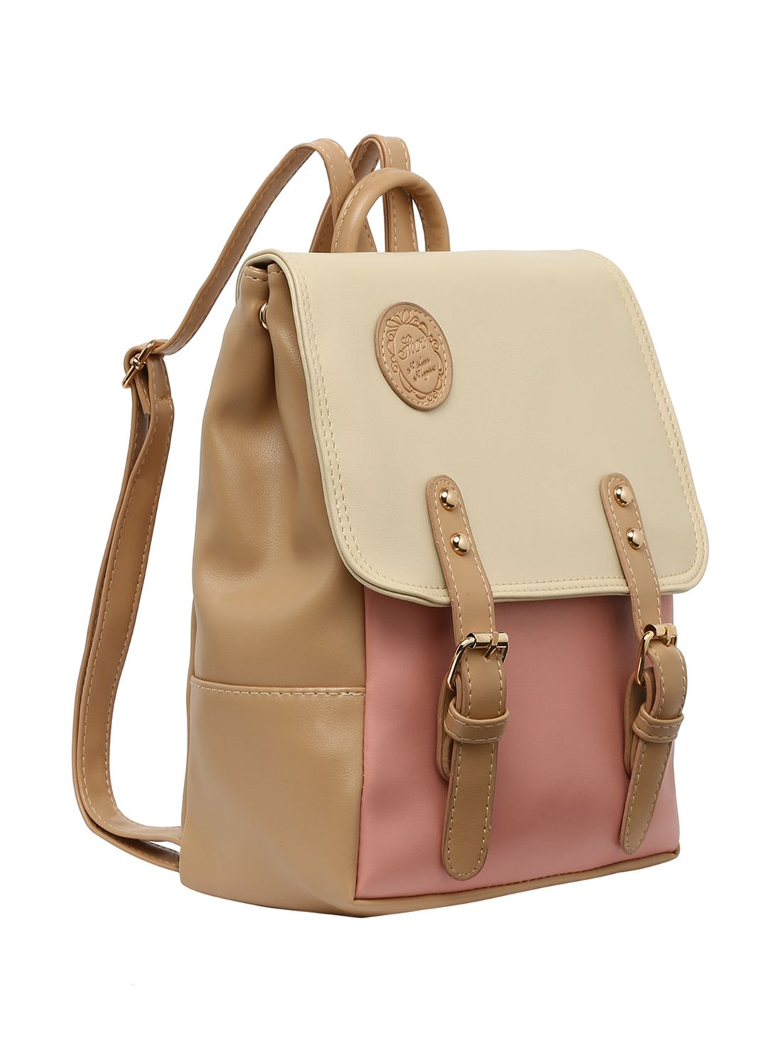 9e78fc815d Shop Color Block Buckle Flap Backpack online. SheIn offers Color Block  Buckle Flap Backpack & more to fit your fashionable needs.