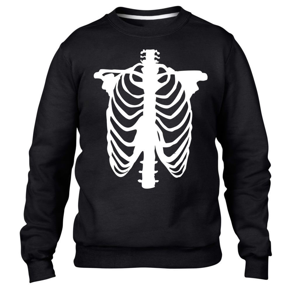 Skeleton Sweater Halloween Blue  Scary Funny Emo Gothic Banana Body Death Fancy