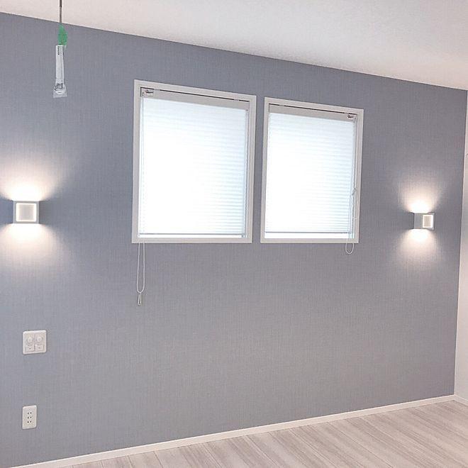 壁 天井 アクセントクロス ブルーグレー 寝室 照明のインテリア実例 2017 12 28 22 19 12 Roomclip ルームクリップ 寝室 ライト インテリア リビング フローリング