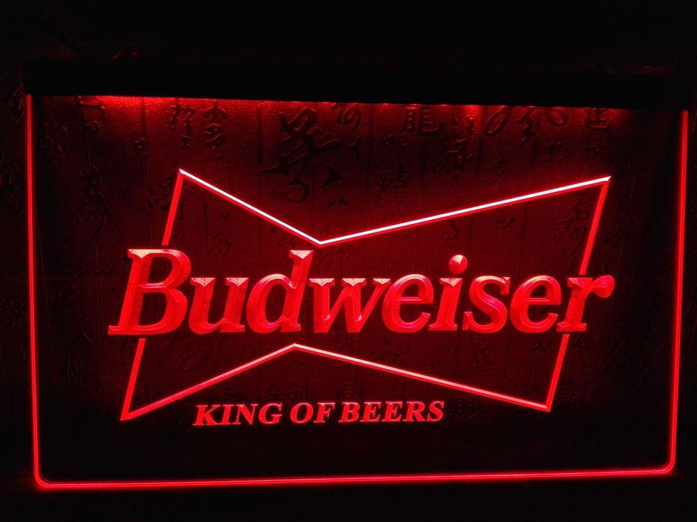 Man Cave Signs Melbourne : Le009 budweiser king beer bar pub club led neon light sign