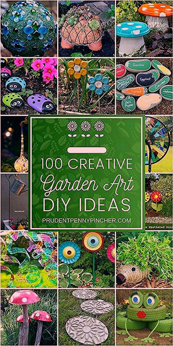 Photo of 100 Kreative Heimwerker-Garten-Kunst-Ideen – 1 | DIY Garten Gazing Ball von Herd…