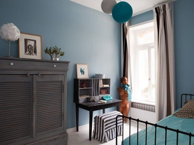 exemple déco chambre adulte gris bleu Pinterest Room