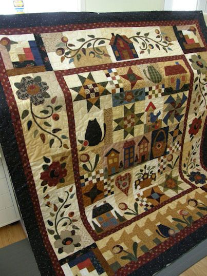 love, love, love this quilt!!! Rosewood Cottage Gone Country Block ... : country quilts patterns - Adamdwight.com