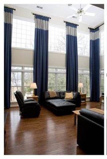 Ideas For Dressing Tall Windows Window Treatments Living Room