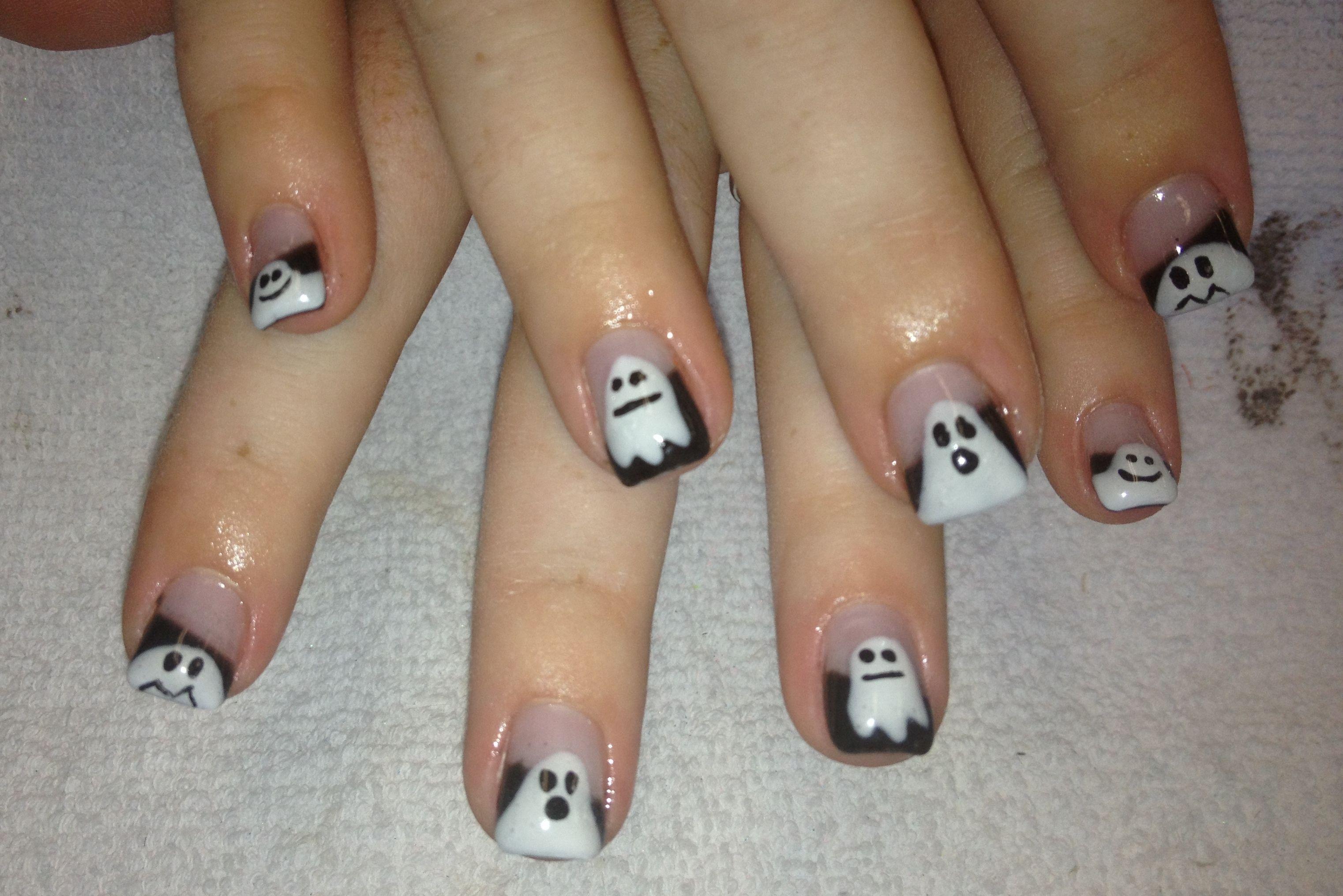 Ghost Nails | Halloween nails, Nails