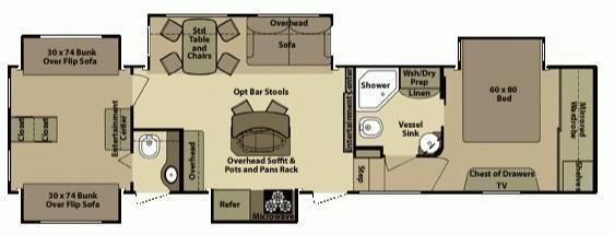 2013 open range 399bhs five slide quad bunk (399bhs 399-bhs