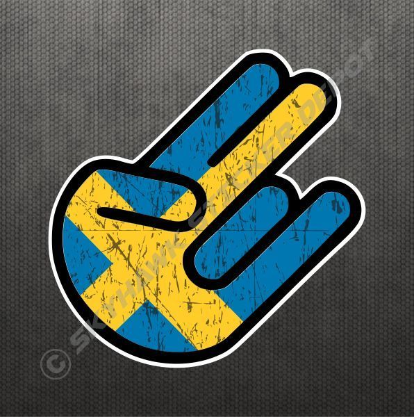 Shocker swedish flag sticker vinyl decal sweden car sticker fits volvo saab