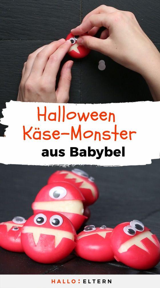 Fingerfood für Halloween: freche Käse-Monster