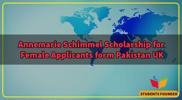 Annemarie Schimmel Scholarship for Female Applicants form