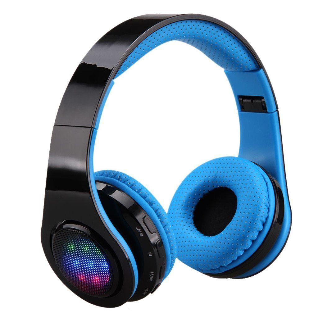 Folding Wireless LED Stereo Bluetooth Headset Bluetooth