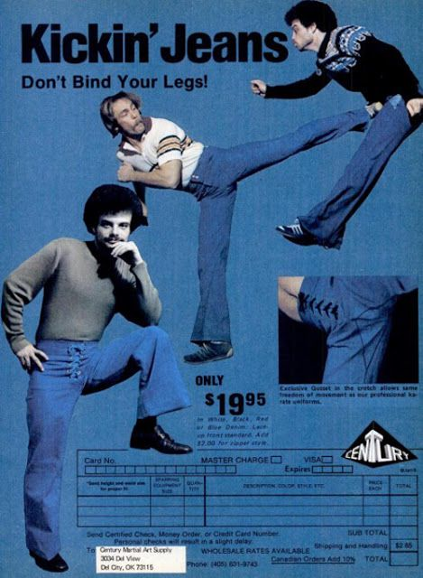 Kickin' Jeans 70s fashion ad