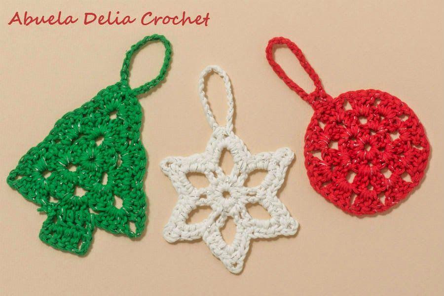 Adornos navide os en crochet navidad pinterest natal for Adornos navidenos tejidos a crochet 2016