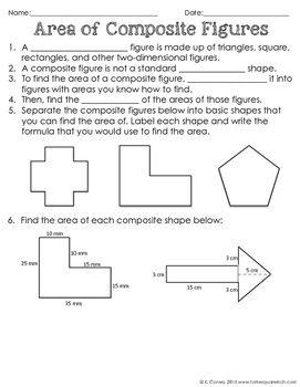 Area of Composite Figures   Math Activities   Pinterest   Teacher ...