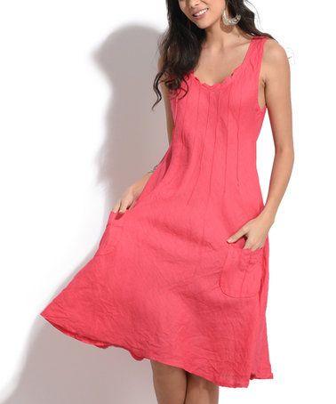 Look what I found on #zulily! Pink Linen Liana Dress #zulilyfinds