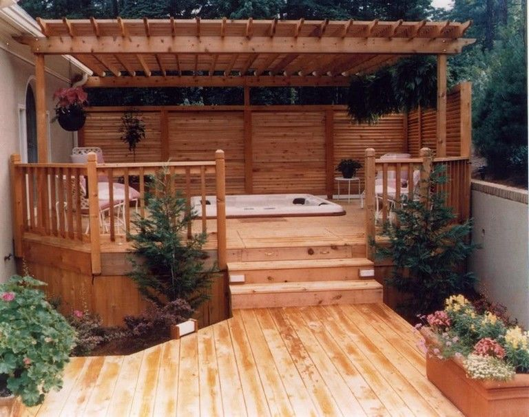 32 Beautiful Outdoor Hot Tub Privacy Ideas Page 13 Of 32 Hot