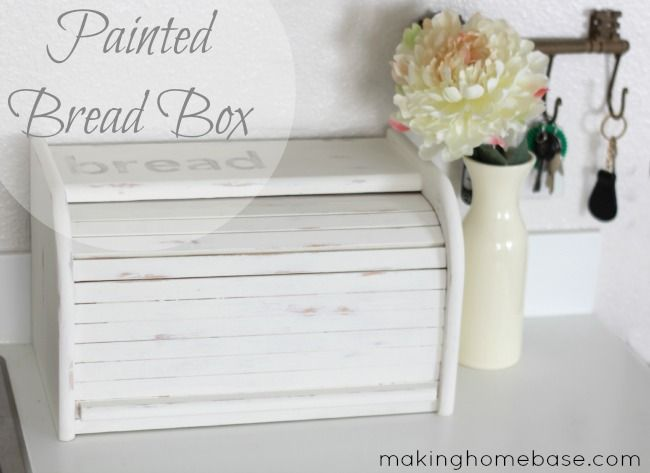 Easy Kitchen Update Paint An Old Wooden Bread Box For A Whole New Look Wooden Bread Box Diy Kitchen Decor Bread Boxes