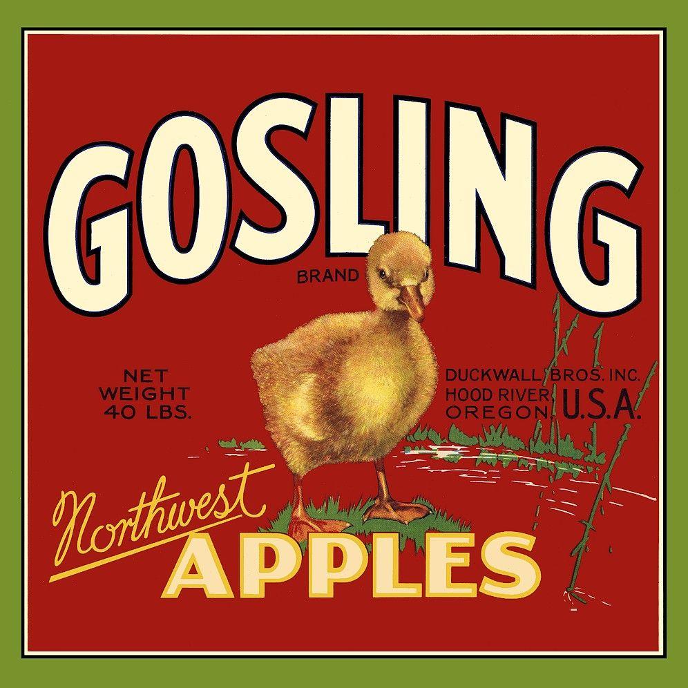 gosling northwest apples crate labels apple crates crates