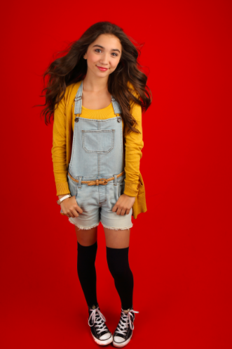 132e53e04e Rowan-- She KILLED it in this outfit!!! It s so summery and I love how she  added the converse and knee high socks. You go