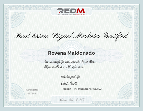 The Real Estate Digital Marketer (REDM) course and certification is ...