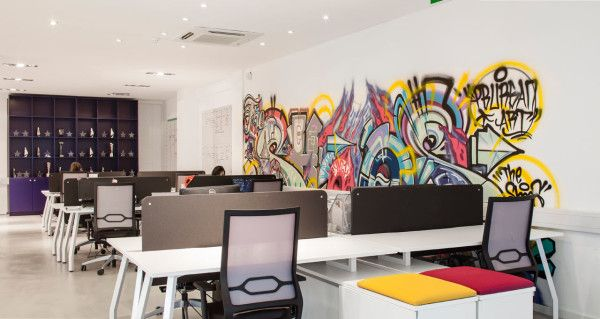 Graffiti wall at Verves office Commercial Hospitality