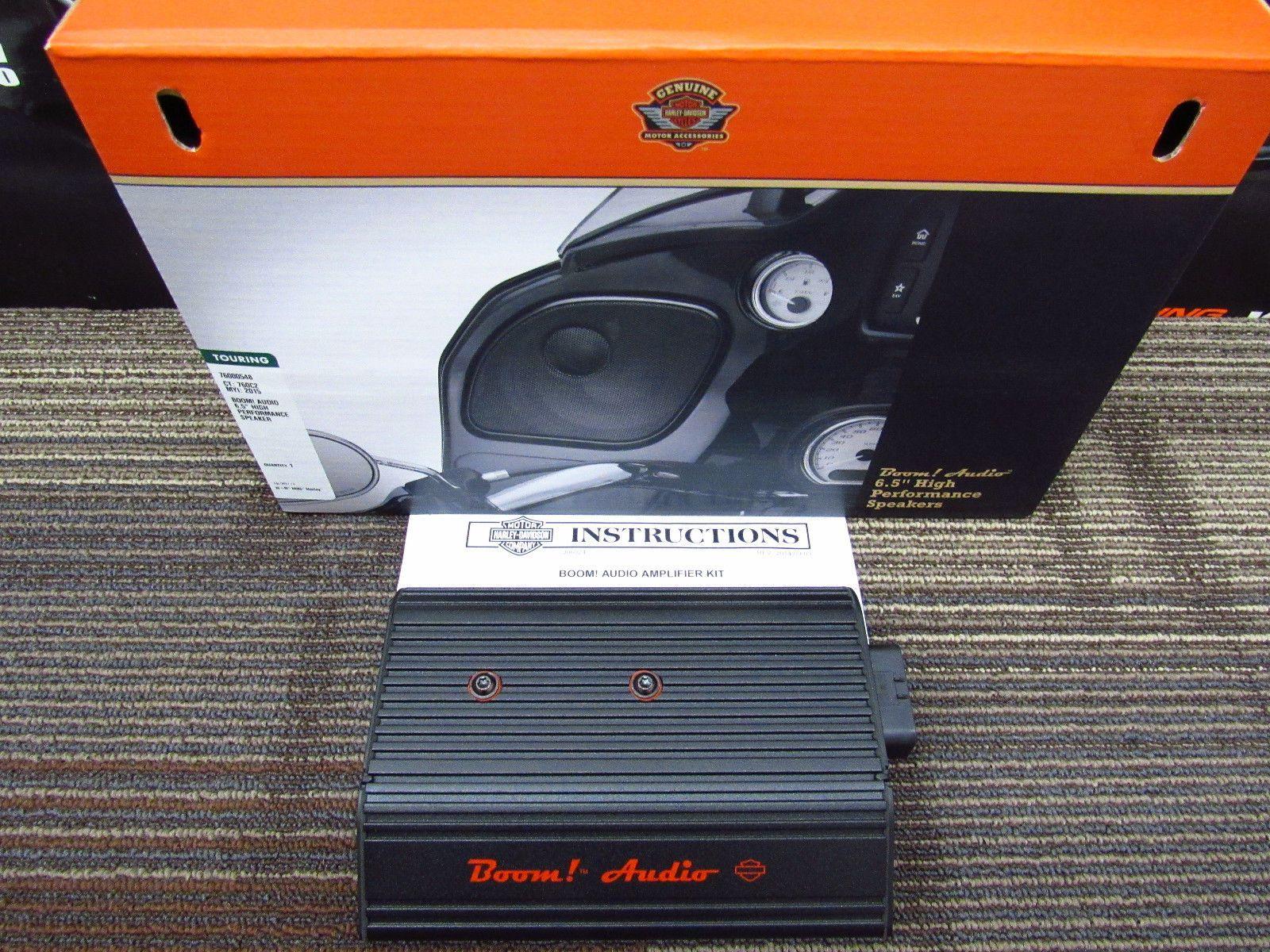 Harley Davidson 2 Speaker Boom Bagger Kit Two Audio 76000587 Please Retweet