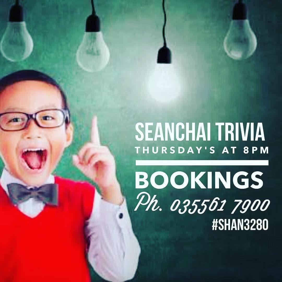 Don't forget to book your table for Warrnambool's best Trivia night. Also next week is our annual Movember Trivia night tables filling fast already. #trivia3280 #trivia  #shan3280 #destinationwarrnambool by seanchaiwarrnambool