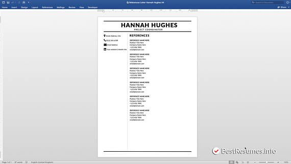 Modern Resume Template Resume Template Word Clean Resume Template