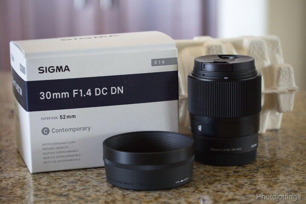 Sigma 30mm F1 4 Contemporary Dc Dn Lens For Sony E Dslr Lens Lens Sigma