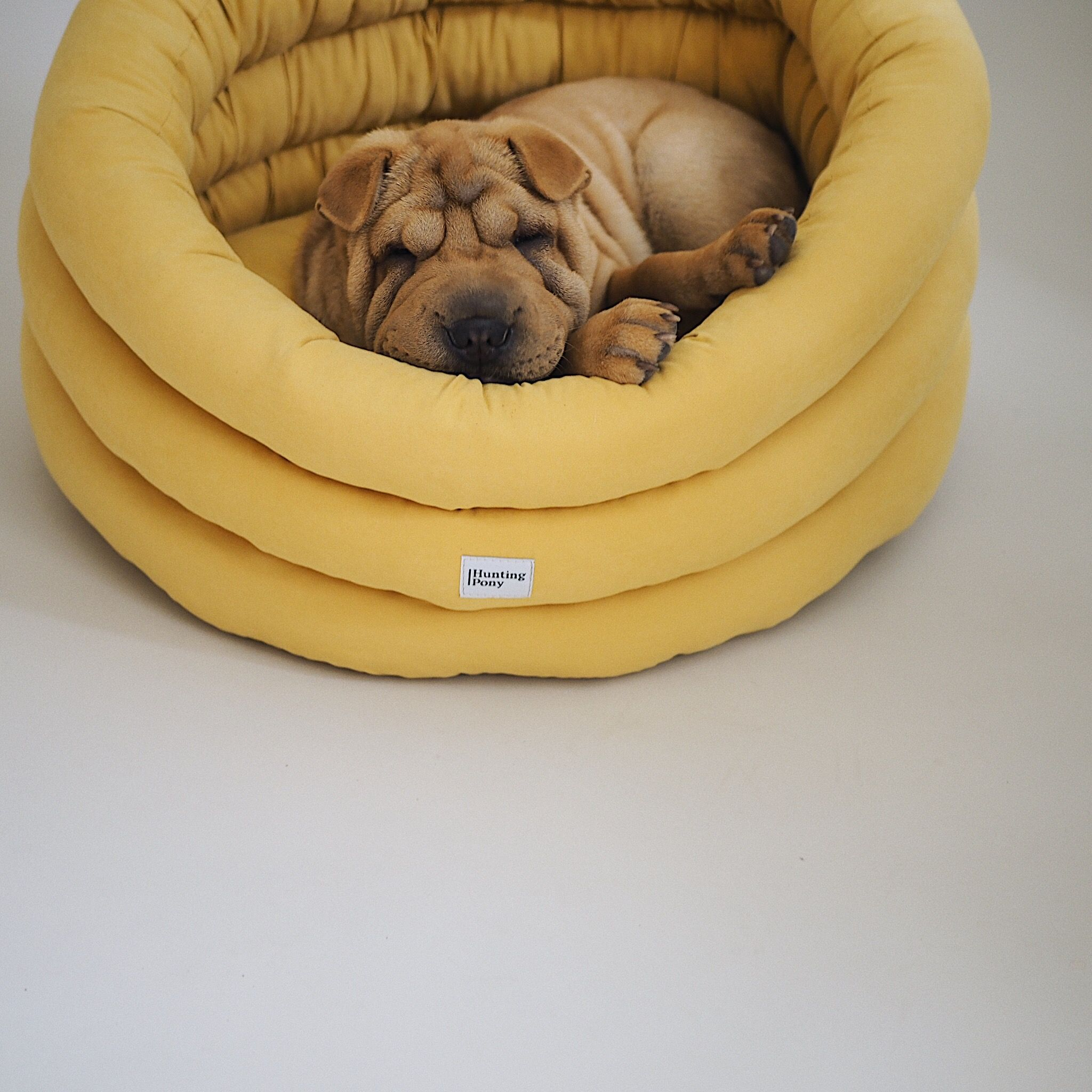 Cloud dog bed yellow washable pet house handmade dog bed