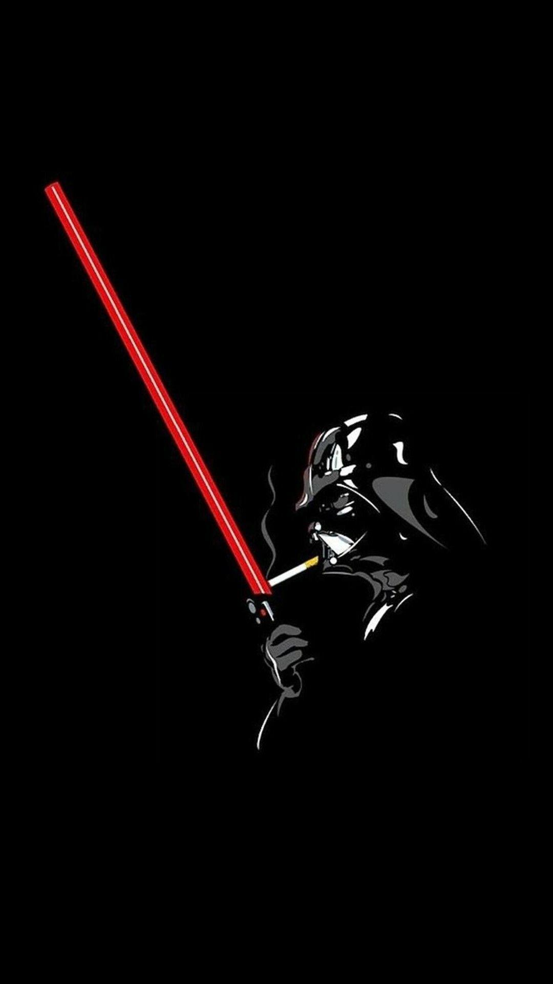 Minimalist Darth Vader In 2020 Star Wars Wallpaper Star Wars Art Darth Vader