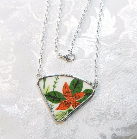 Broken China Jewelry Necklace Universal China by TreasuresAnew, $30.00